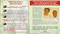 Vereador Capá apóia e divulga Lei da Tarifa Social de Energia Elétrica