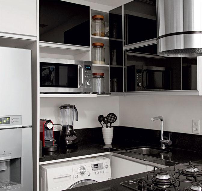 02 quitinete de 26 m2 aposta em moveis planejados e integracao de ambiente Boas ideias para apartamento pequeno ou quitinete!