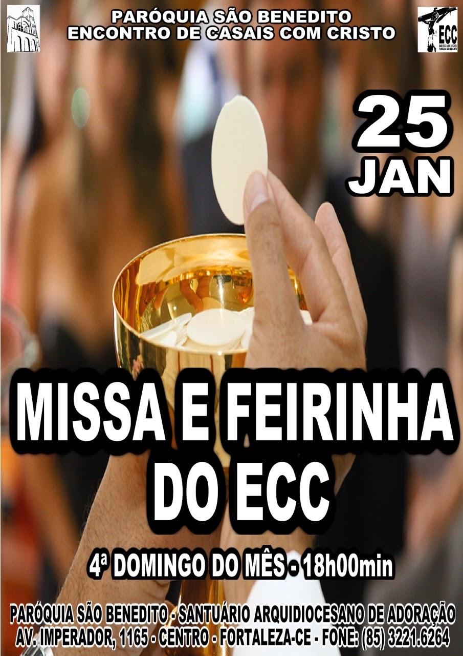Missa e Feirinha do ECC: Dia 25/01