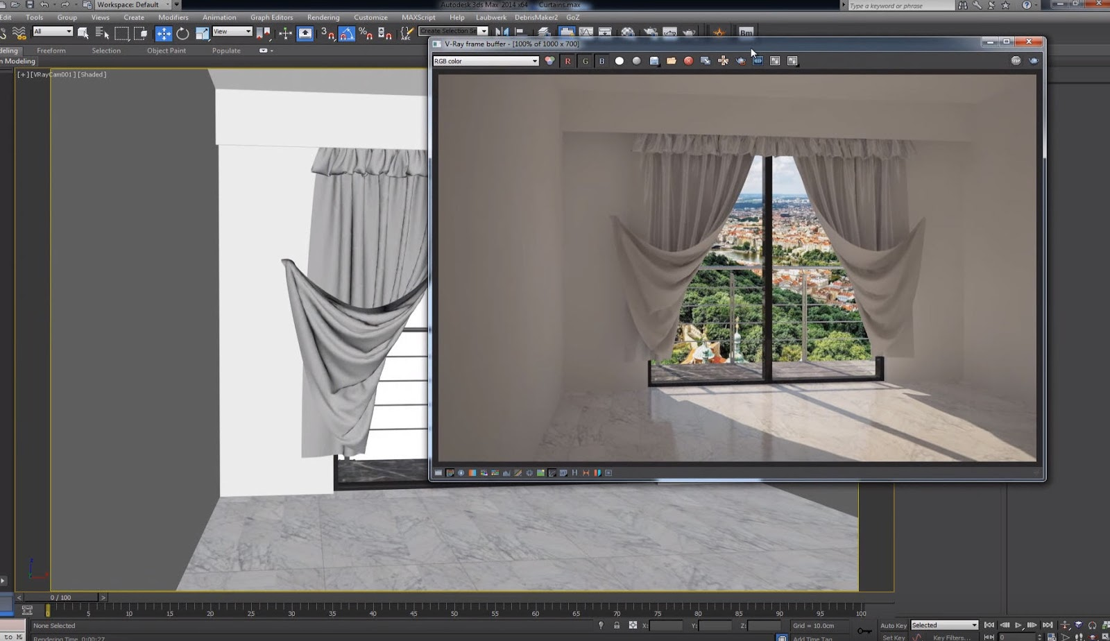 Modeling Curtains In 3ds Max And Marvelous Designer Cg Tutorial