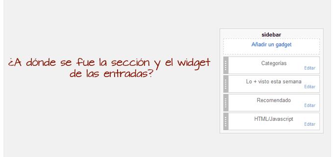 Seccion de diseño de Blogger