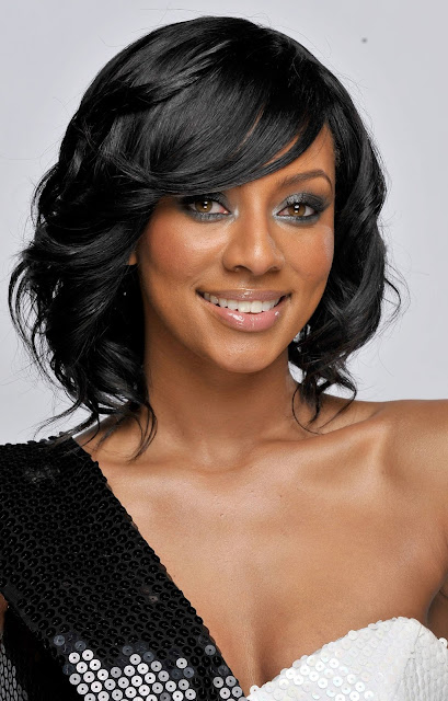 black prom hair Keri Hilson