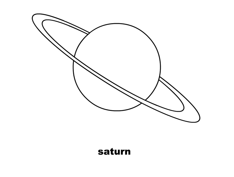 free planet saturn coloring pages - photo#8