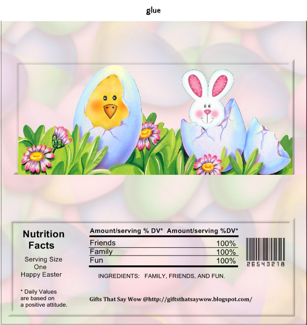 free printable easter candy wrapper that is great for easter baskets and easter events follow the instructions below to make your wrapper