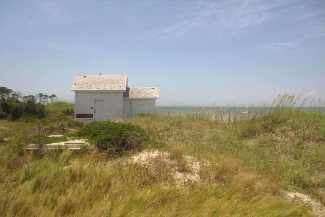 Summer kitchen building on Cape Lookout
