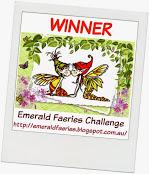 Wygrałam wyzwanie Monochromatic w Emerald Faeries Challenge