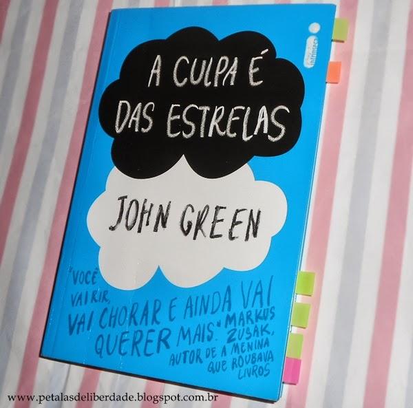 Capa do livro A Culpa é das Estrelas John Green Intrínseca pdf resenha resumo comprar