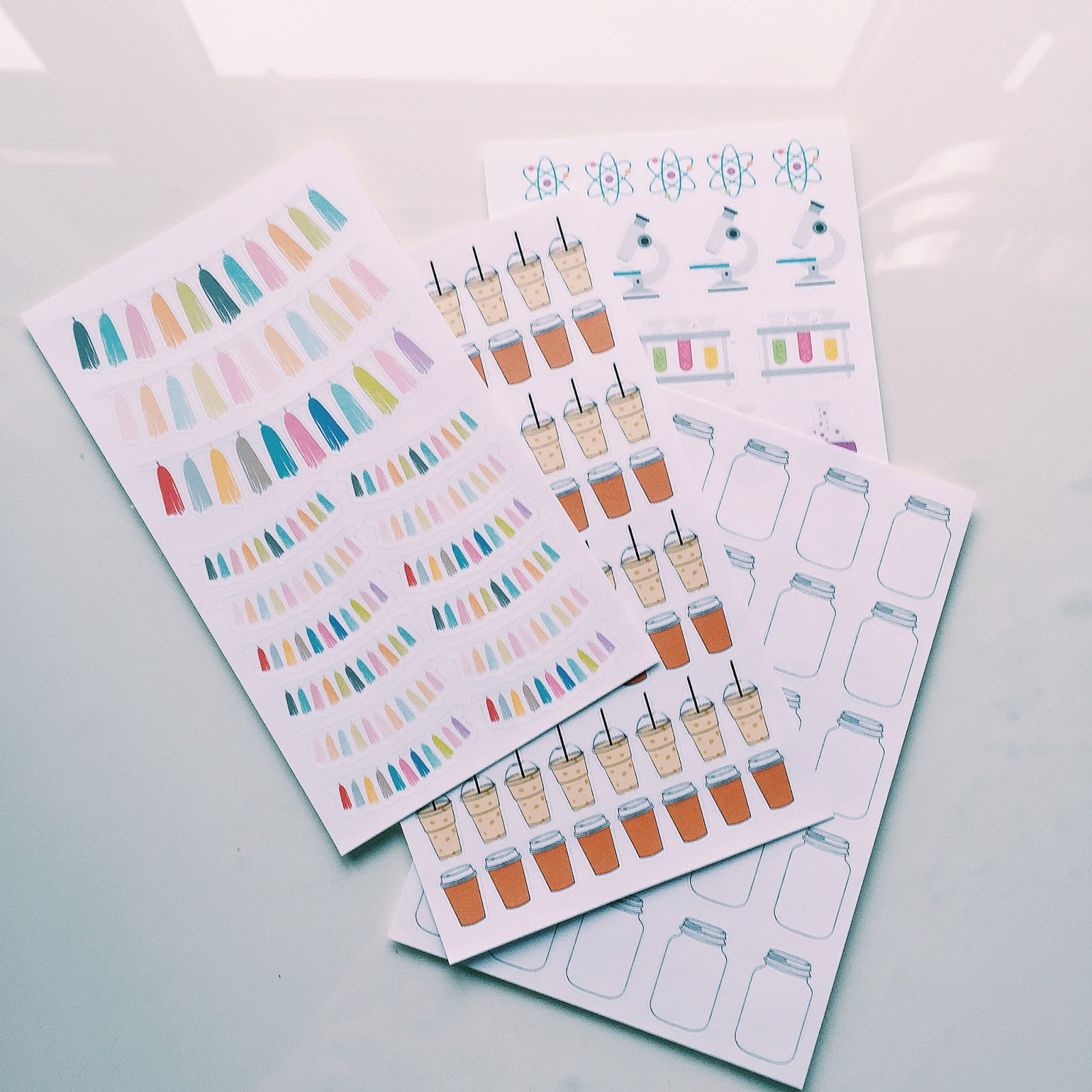 etsy planner sticker haul the alex studio