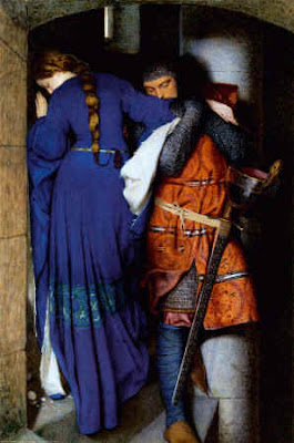 The Meeting on the Turret Stairs - Frederick William Burton, 1864 - public domain, via Wikimedia Commons.