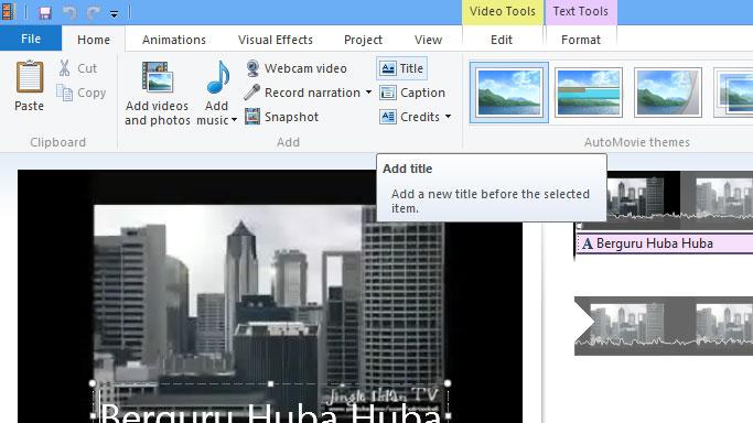Cara Menambahkan Text di Video 2