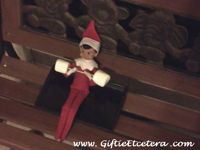 Elf on the Shelf Ideas, barbell