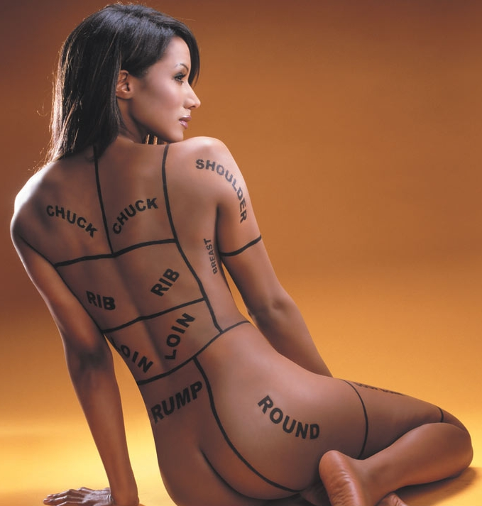 Traci Bingham. Nudity and provocative poses are an endemic feature of advertising.