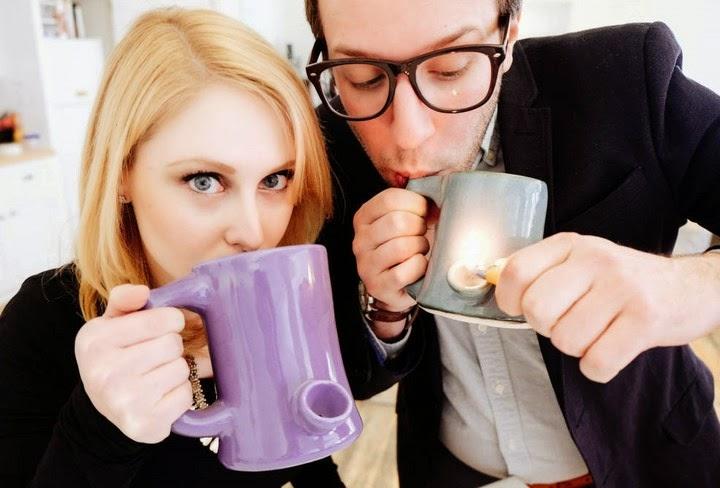 Coffee Mug With Pipe In Handle for Weed Smoking  399edb77f