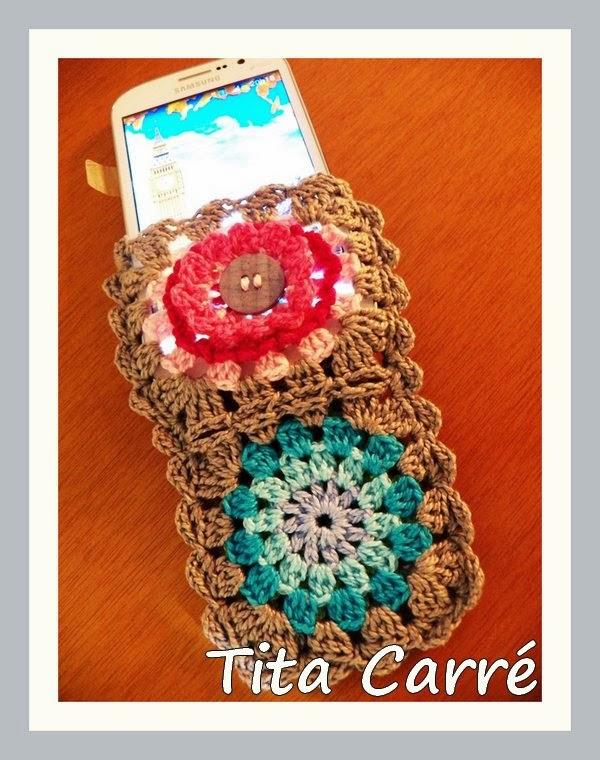 Case para celular Squares Florais