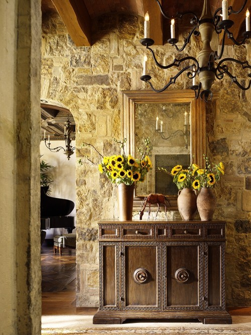 Tuscan Style Decor Custom Of Tuscan Style Stone Walls Image