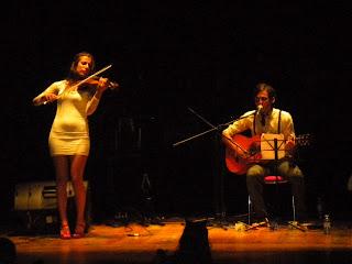 Frans Banfield e Patricia Moon na homenaxe a Celso Emilio Ferreiro en Vigo