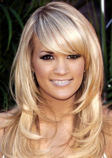 long hairstyles with bangs and layers. long hairstyles with angs and