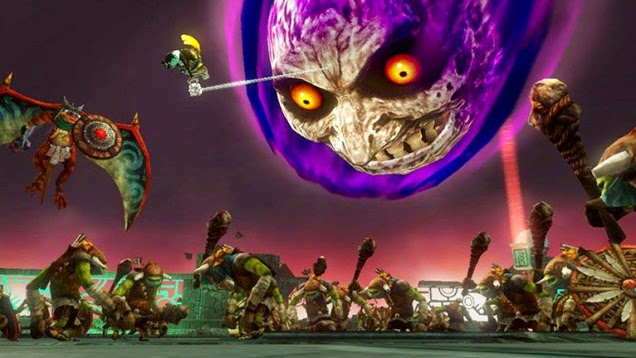 Majora's Mask moon on Hyrule Warriors