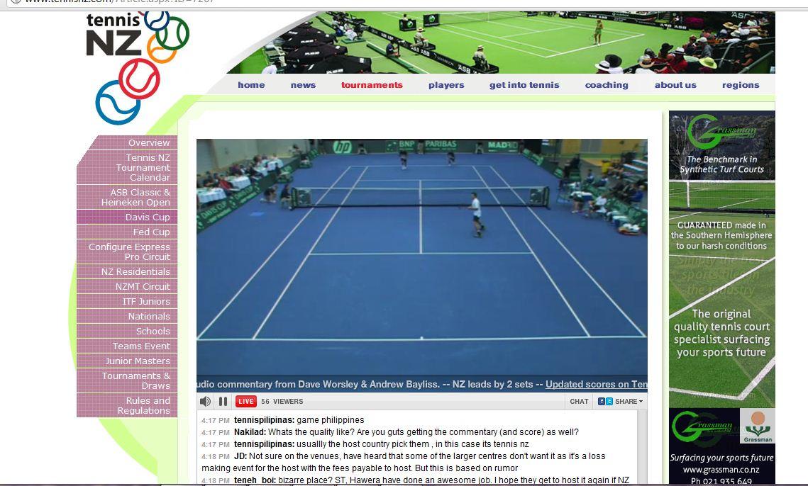 The Tigers Eye Davis Cup Live Streaming Nz
