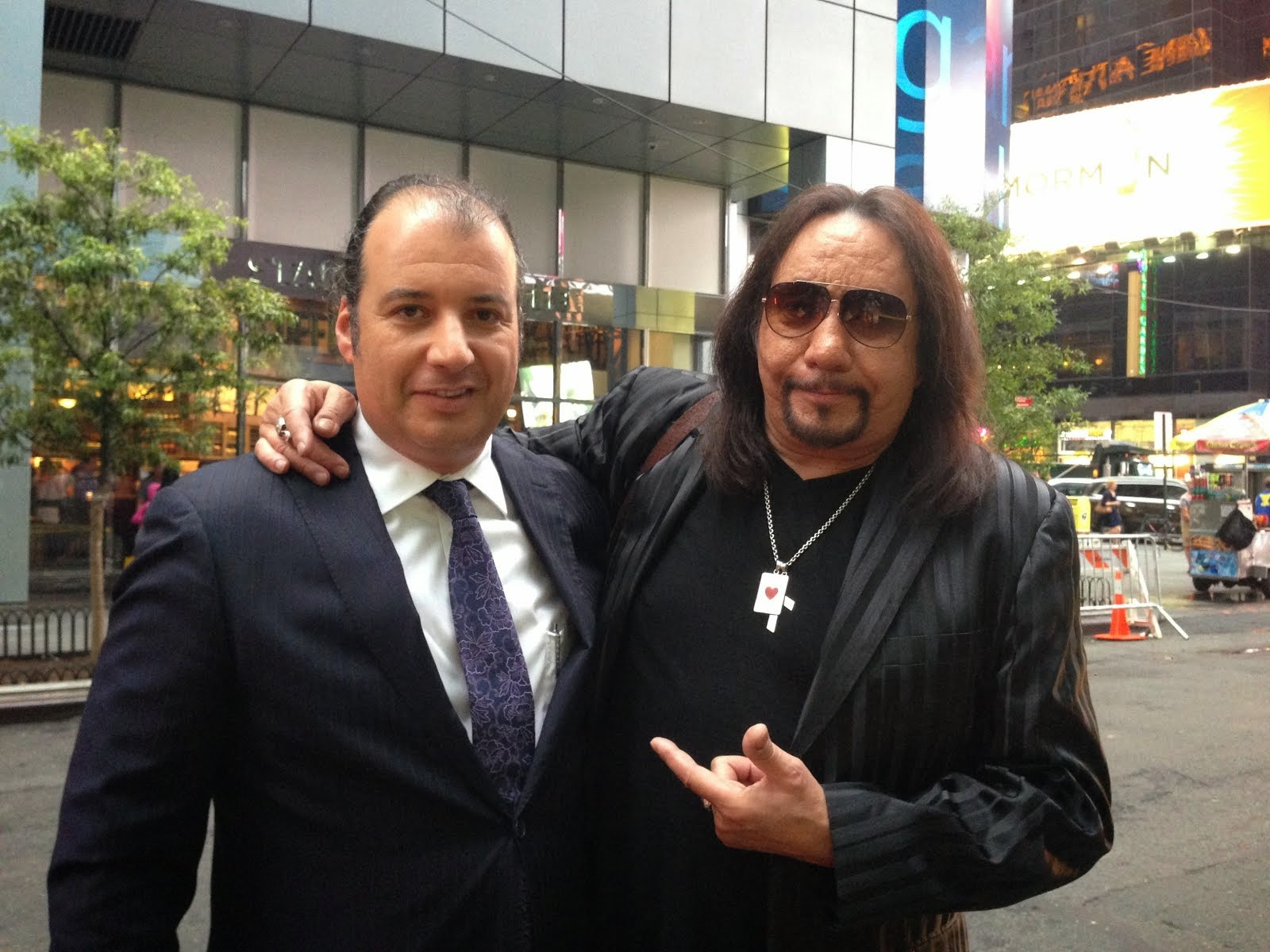 Danya Polykov and Ace Frehley (of KISS), 08.2014