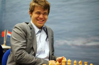 Échecs : Magnus Carlsen 1-0 Loek van Wely ronde 3 - Photo © Tata Steel