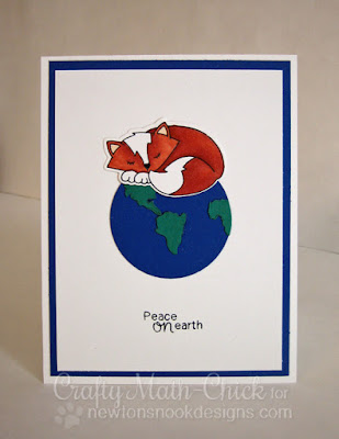 Peaceful Fox on Earth card by Crafty Math Chick | Fox Hollow by Newton's Nook Designs