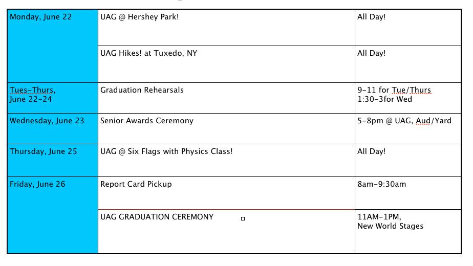 June 2015 ~ UAG Student Opportunities