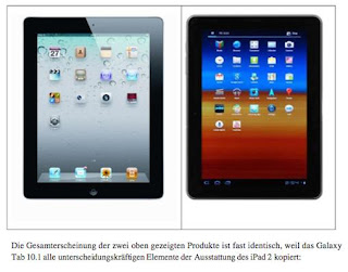 iPad e Galaxy Tab lado a lado