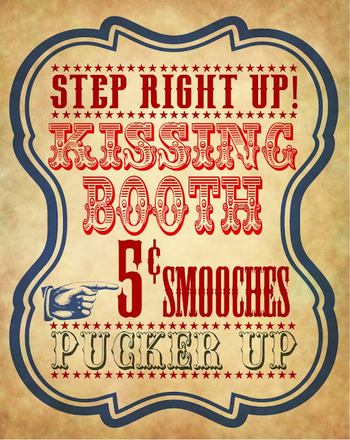 Be different act normal vintage kissing booth poster for Party wall act template
