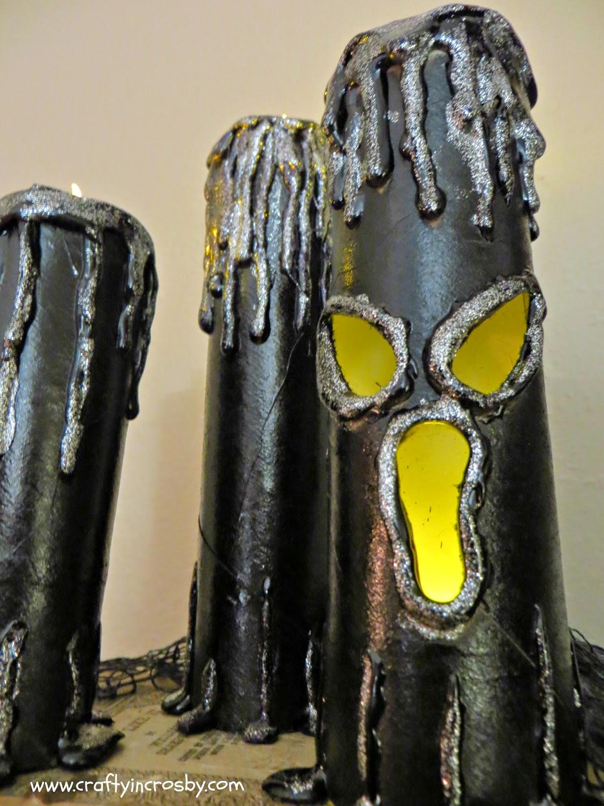 Halloween Candles, Spooky Candles, Tea Light Halloween Candles, Dollar Tree