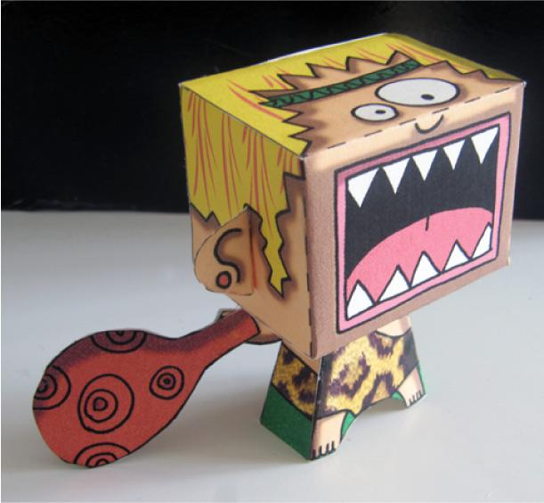 """paper toy """"cri primal"""" par CocoFlower"""