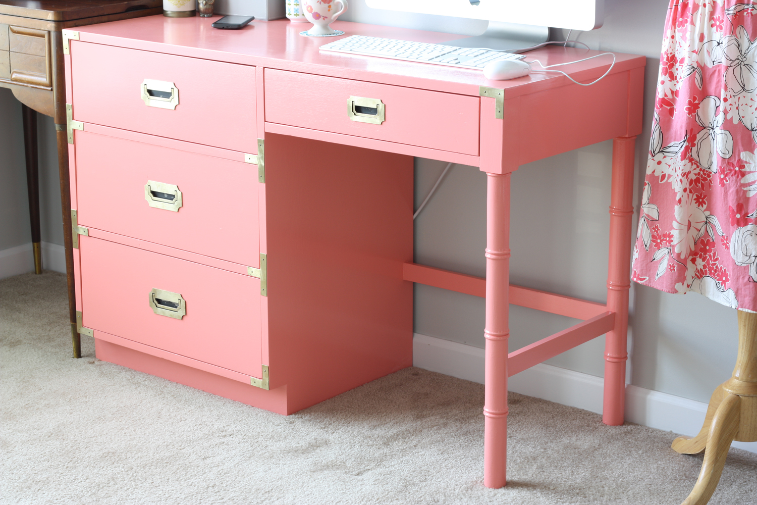 Vintage Campaign Desk Reveal - That Winsome Girl: Vintage Campaign Desk Reveal