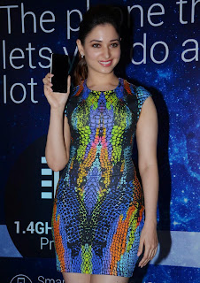 Actress Tamannaah  Picture in Short Dress at Celkon Mobile OCT A510 Launch  190.JPG
