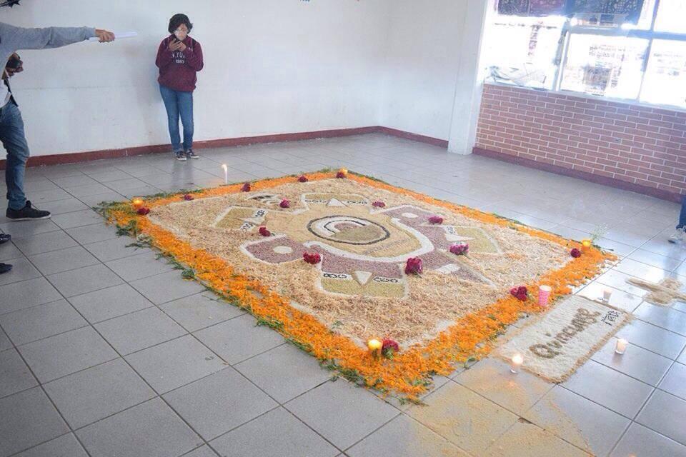 D a de muertos dia de muertos for Materiales para hacer un piso
