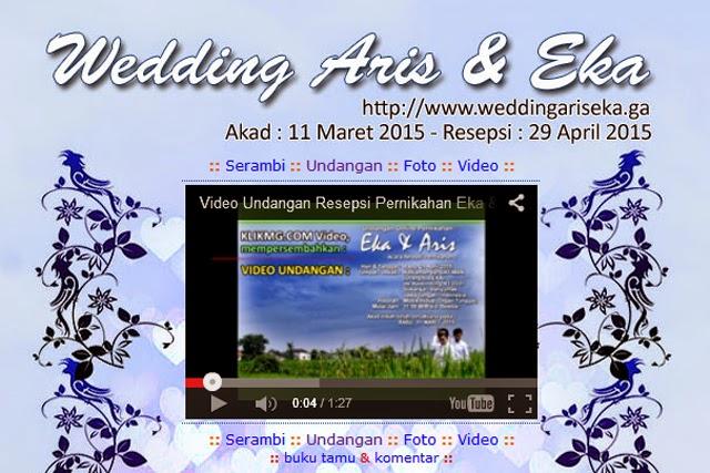 Invitation Video atas Resepsi Pernikahan ARIS & EKA - video dikerjakan oleh : Klikmg Video Shooting Purwokerto