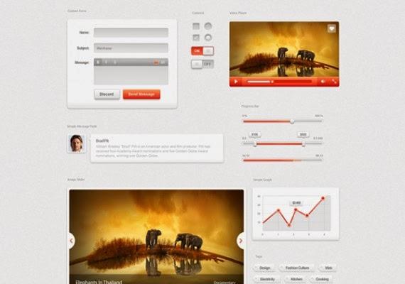 Arctic Sunset GUI Kit Free PSD