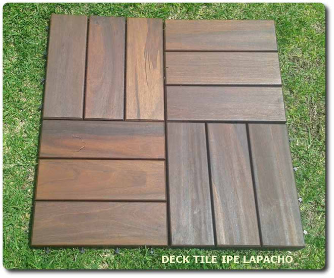 Deck tile piso madera modular ipe lapacho tipo teca otros - Madera ipe precio ...