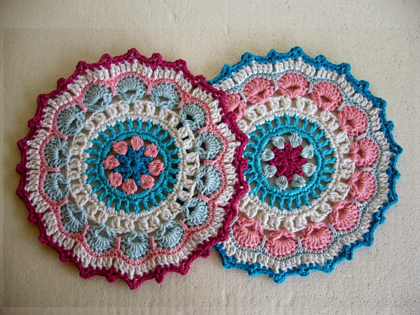 Twin crochet mandalas