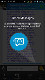 timed message bbm
