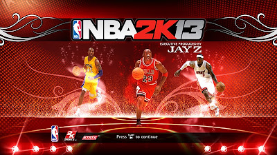 NBA 2K13 Michael Jordan, Kobe Bryant and LeBron James Cover