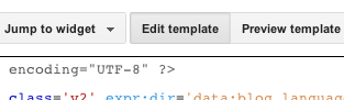 Edit template button within Blogger template editor