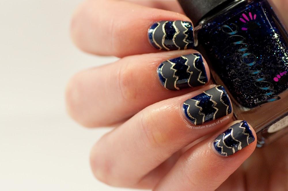 Fashion inspired nail art - May contain traces of polish