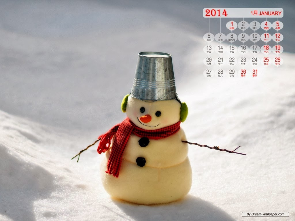 Art wallpaper -> January 2014 Calendar wallpaper