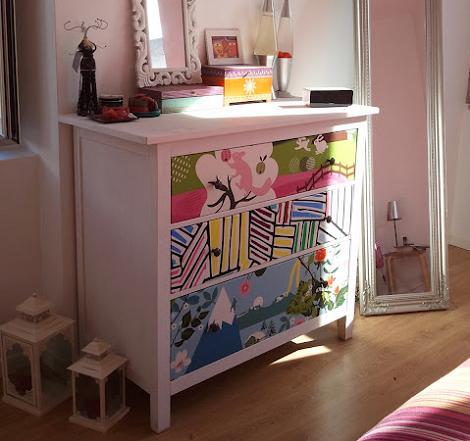Oh la la bebe como se hace redecoramos - Como forrar muebles con tela paso a paso ...