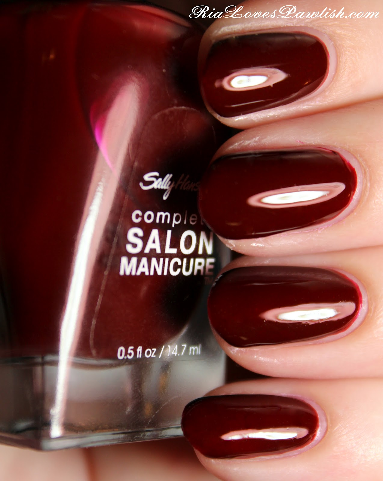 Ria Loves Pawlish: Sally Hansen complete Salon Manicure Red Zin