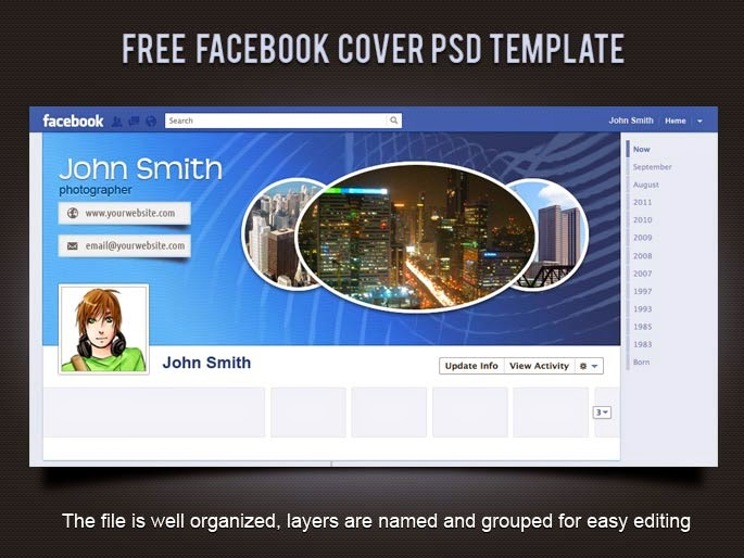 Free Facebook Cover PSD Template