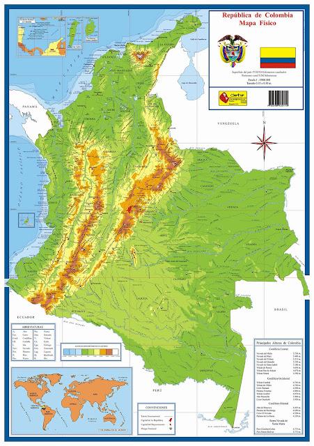 mapa fisco de colombia