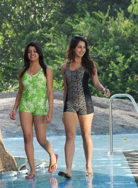 South Hot Sanjana and Thashu Spicy Bikini Shoot in Dussasana Photoshoot images