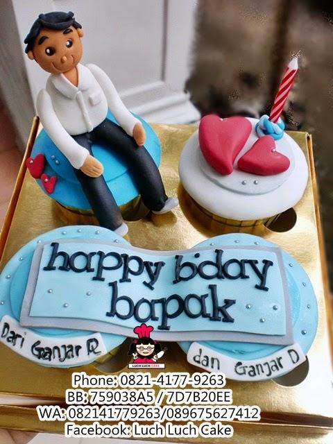 Cupcake Ulang Tahun Untuk Bapak (REPEAT ORDER)