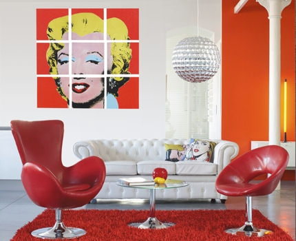 arte curiosa pop art pra dentro de casa. Black Bedroom Furniture Sets. Home Design Ideas